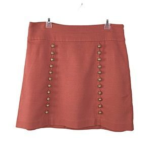Anthropology (Idra) Short Coral Skirt